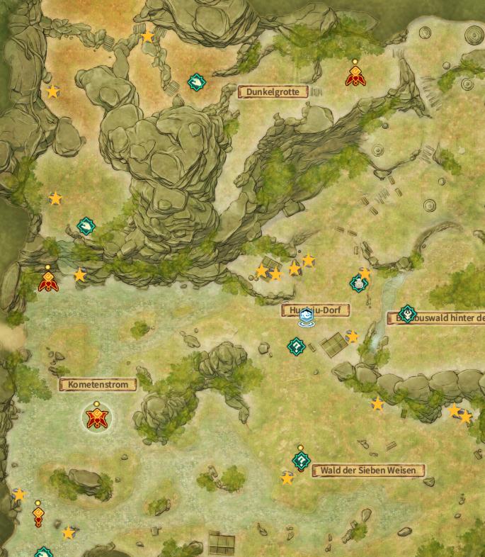 Swords of Legends Online Treasure Map Guide - Huaixiu Village