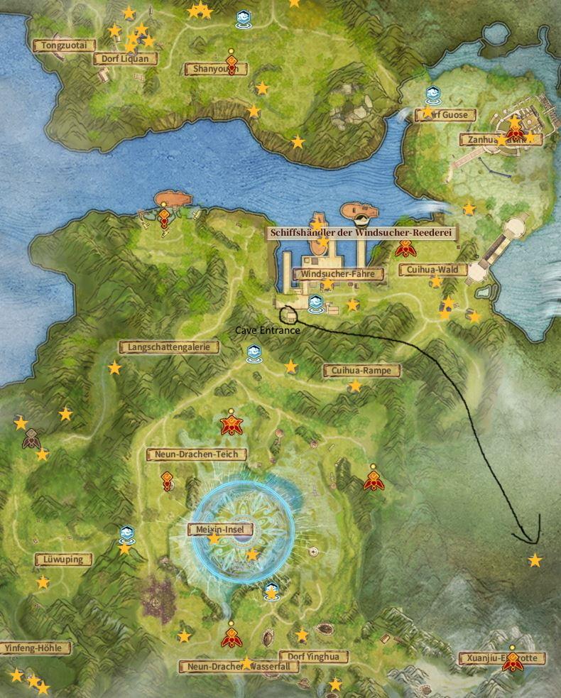 Swords of Legends Online Treasure Map Guide - Zhongnan-Foothills