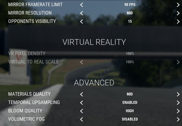 Assetto Corsa Competizione Guide for SteamVR Settings + Graphics + Config in Game - Ingame Graphics Settings - 2CEA750
