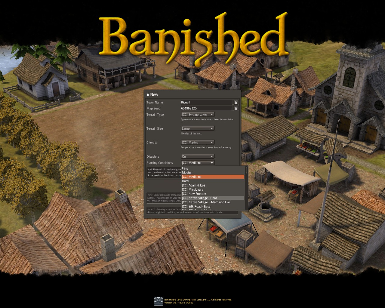 Banished General Guide for Banished:Colonial Chart 1.7 - Gameplay Tips - Before you start! - 3E8AA5F