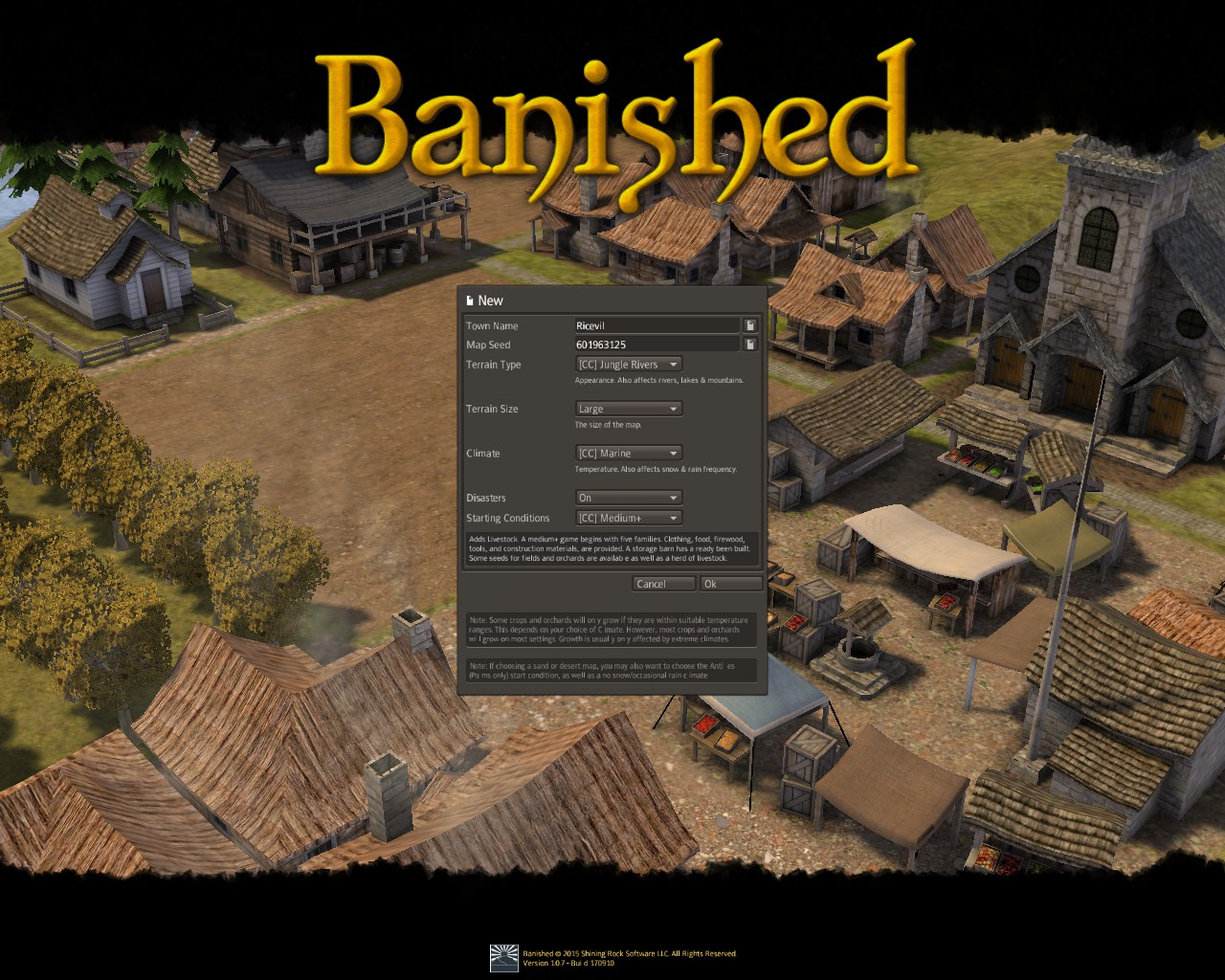 Banished General Guide for Banished:Colonial Chart 1.7 - Gameplay Tips - Before you start! - 714FB92