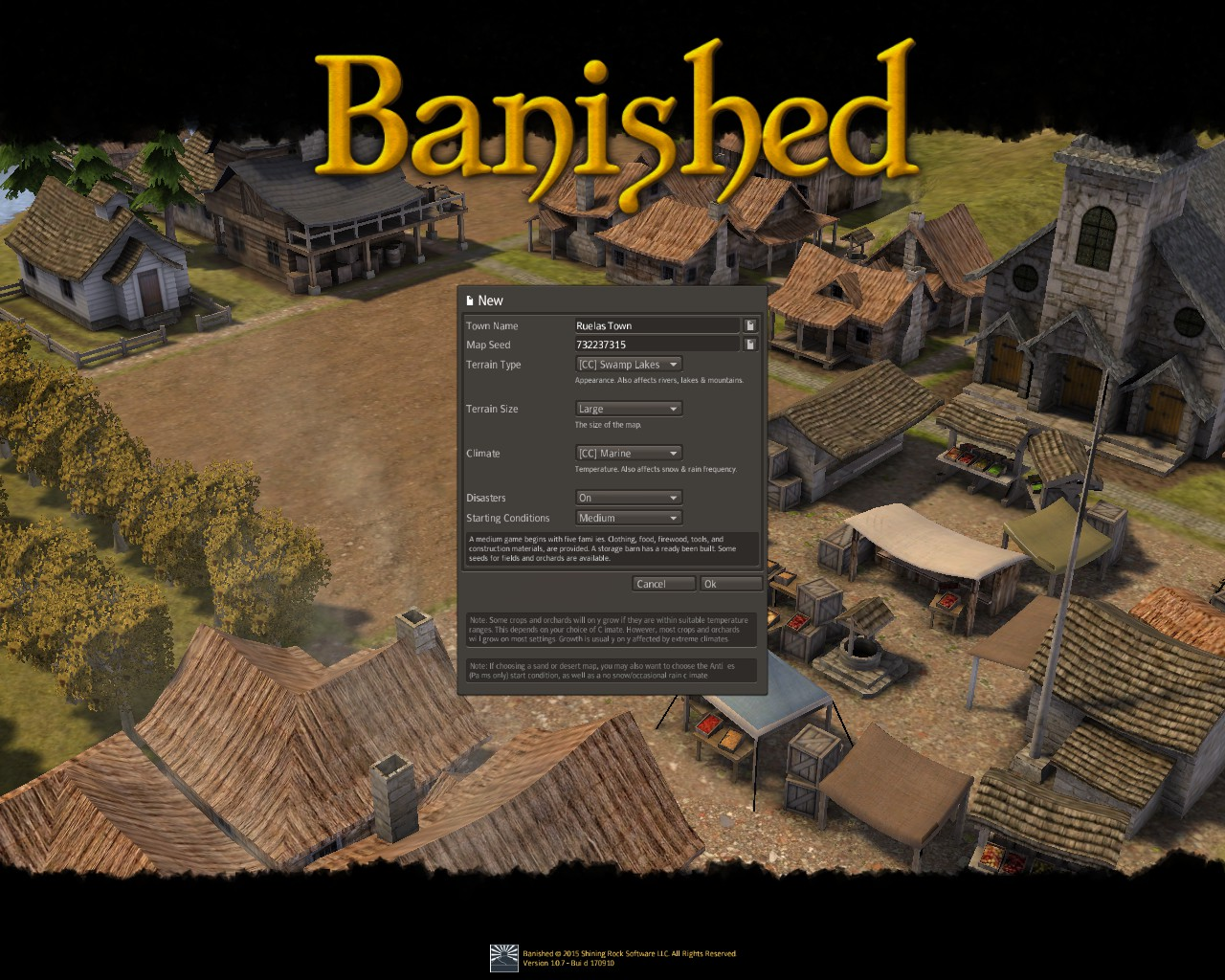 Banished General Guide for Banished:Colonial Chart 1.7 - Gameplay Tips - Before you start! - AAF3457