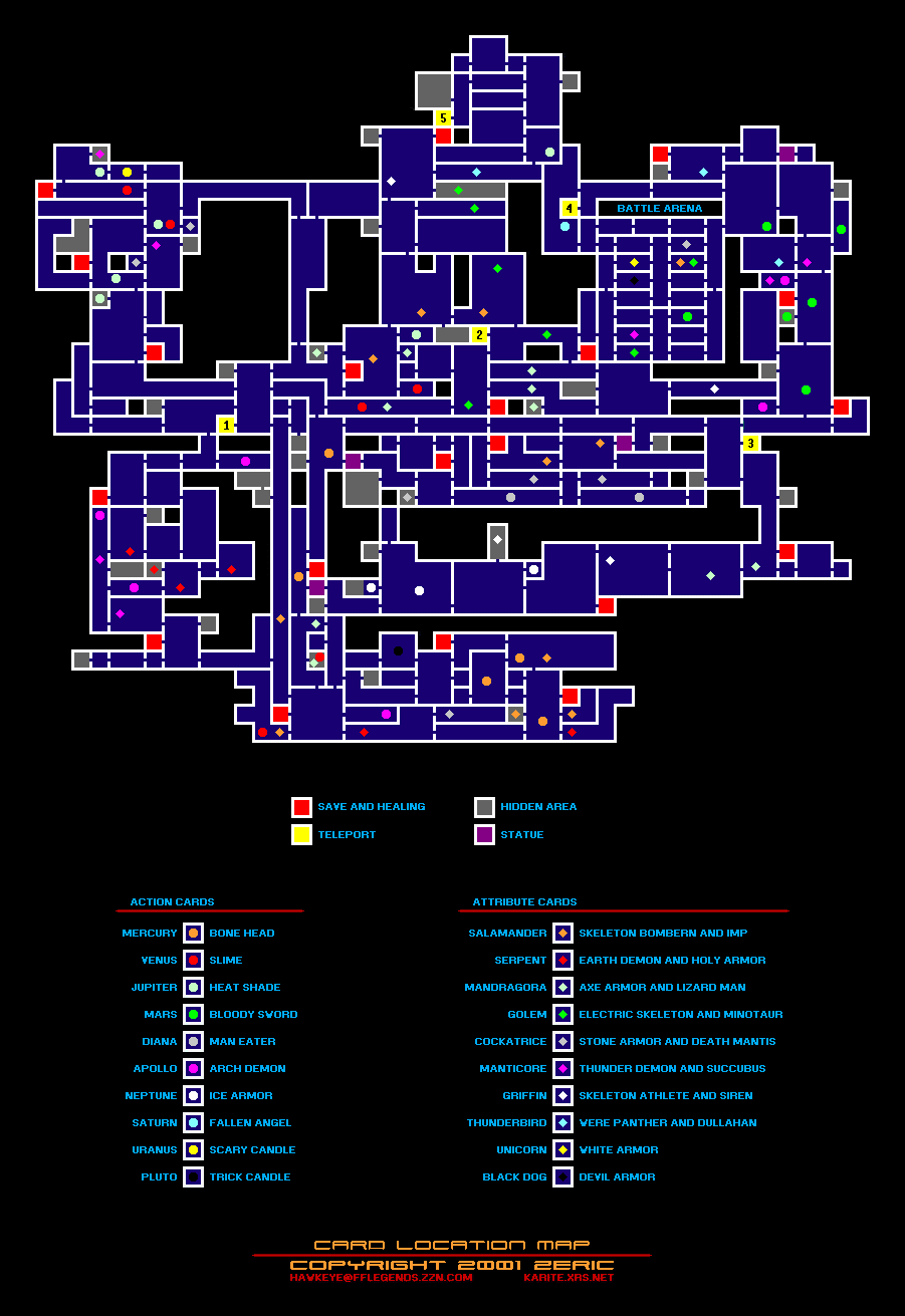 Castlevania Advance Collection List of All Collectible Items + Map Location Guide - Cards - 72956EB