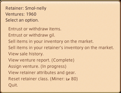 FINAL FANTASY XIV Online FINAL FANTASY XIV Online General Information How to Make Gil + Farming Mob Drops - Beginner level: Retainers - 7C2D010