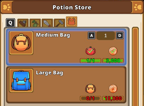 Kitaria Fables Bag Upgrade for More Inventory Space Guide - Bag Upgrades - ADEDDC7