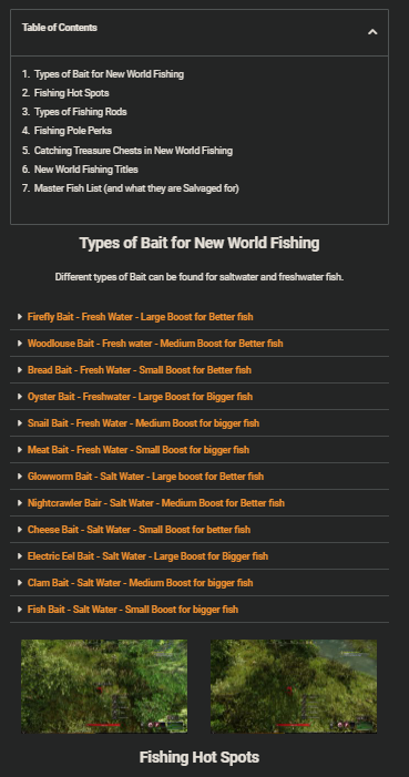 New World Fishing Tutorial and Gameplay Tips - Fishing Guide, Bait, Rods and perks, Titles, Fish List! - 33EF15B