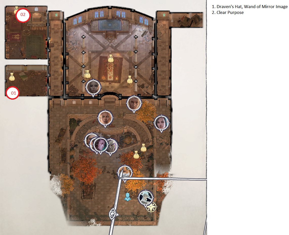 Pathfinder: Wrath of the Righteous All Items Location in Cave Map Guide - Ch. 2 Item Locations - 8C73B56