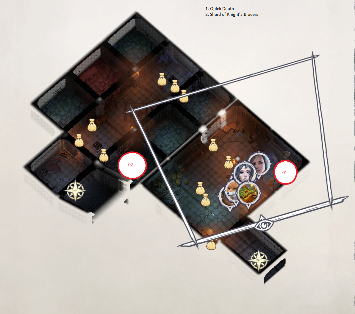 Pathfinder: Wrath of the Righteous All Items Location in Cave Map Guide - Ch. 2 Item Locations - C68A6D6