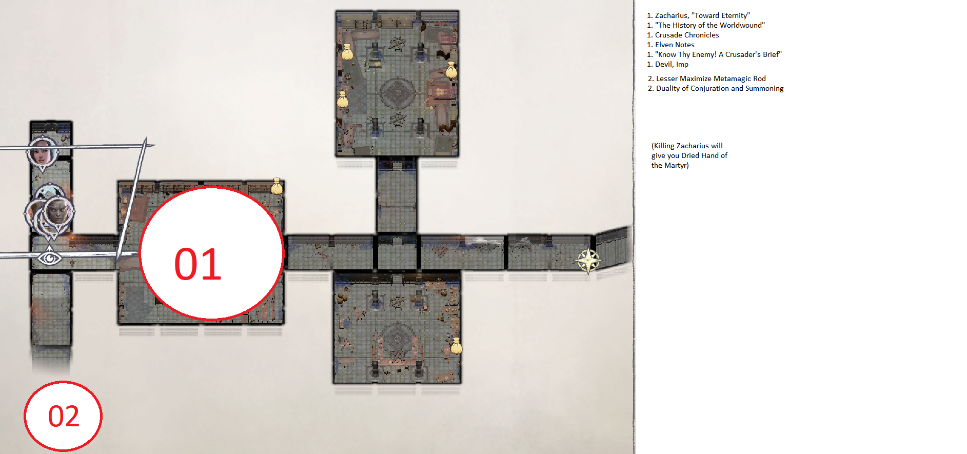 Pathfinder: Wrath of the Righteous All Items Location in Cave Map Guide - Ch. 2 Item Locations - DBD4C9D