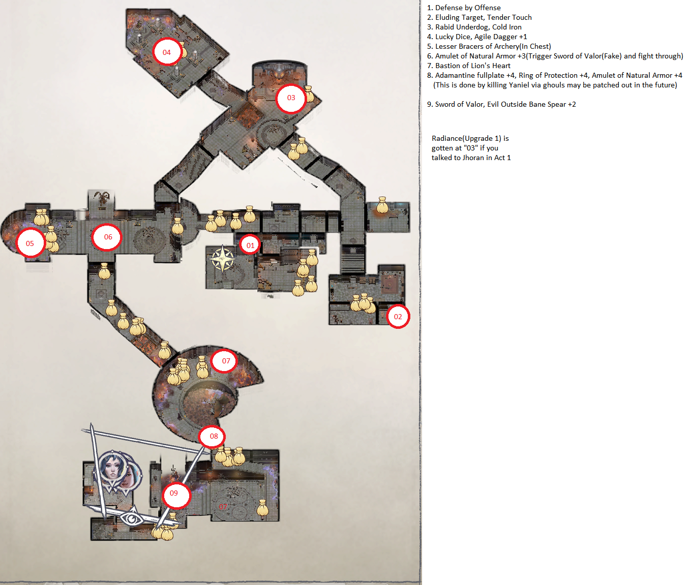 Pathfinder: Wrath of the Righteous All Items Location in Cave Map Guide - Ch. 2 Item Locations - F3C40CD