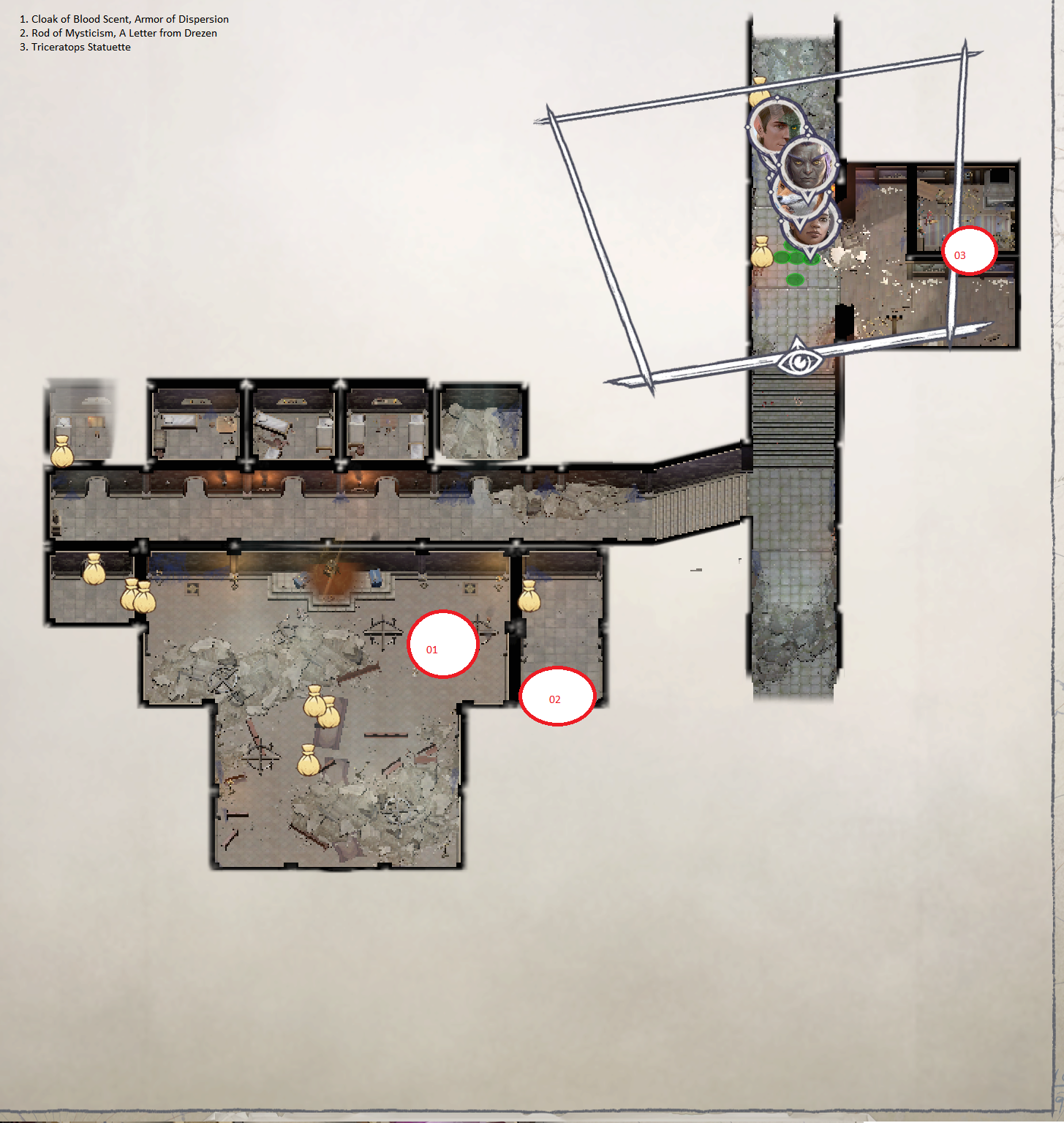 Pathfinder: Wrath of the Righteous All Items Location in Cave Map Guide - Ch. 2 Item Locations - FA78FBC