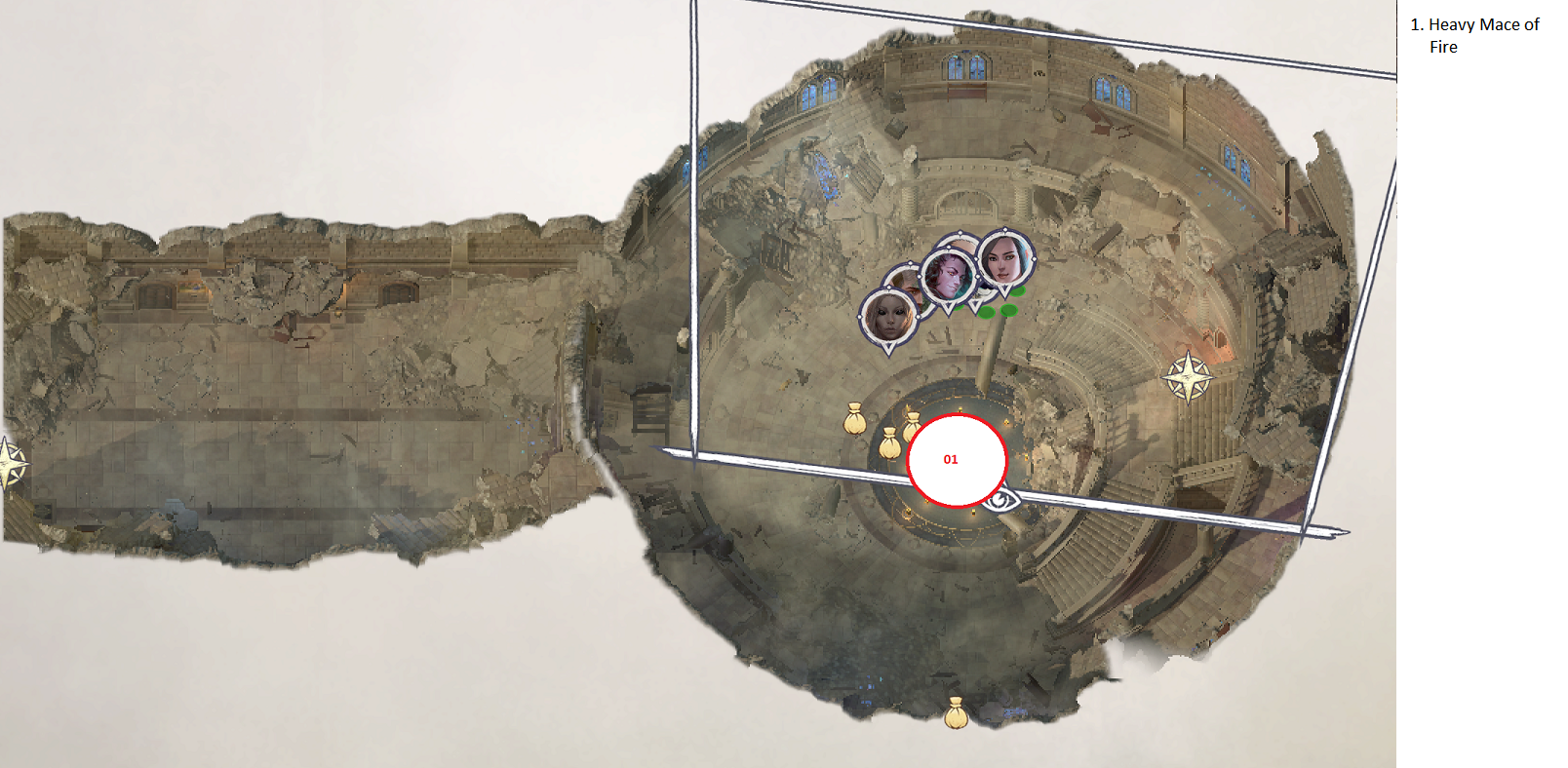 Pathfinder: Wrath of the Righteous All Items Location in Cave Map Guide - Item Locations - 05327F4