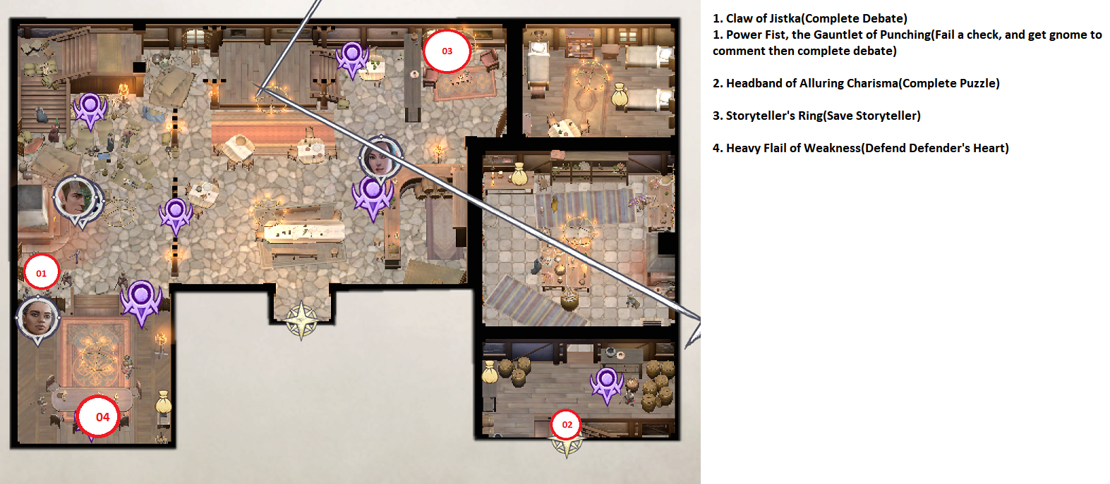 Pathfinder: Wrath of the Righteous All Items Location in Cave Map Guide - Item Locations - 4DBE432