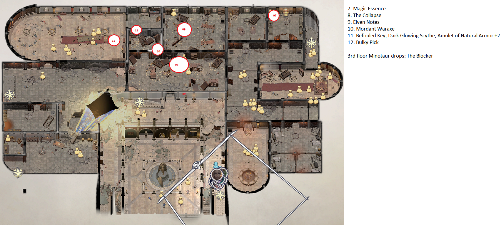 Pathfinder: Wrath of the Righteous All Items Location in Cave Map Guide - Item Locations - 54C5FA6