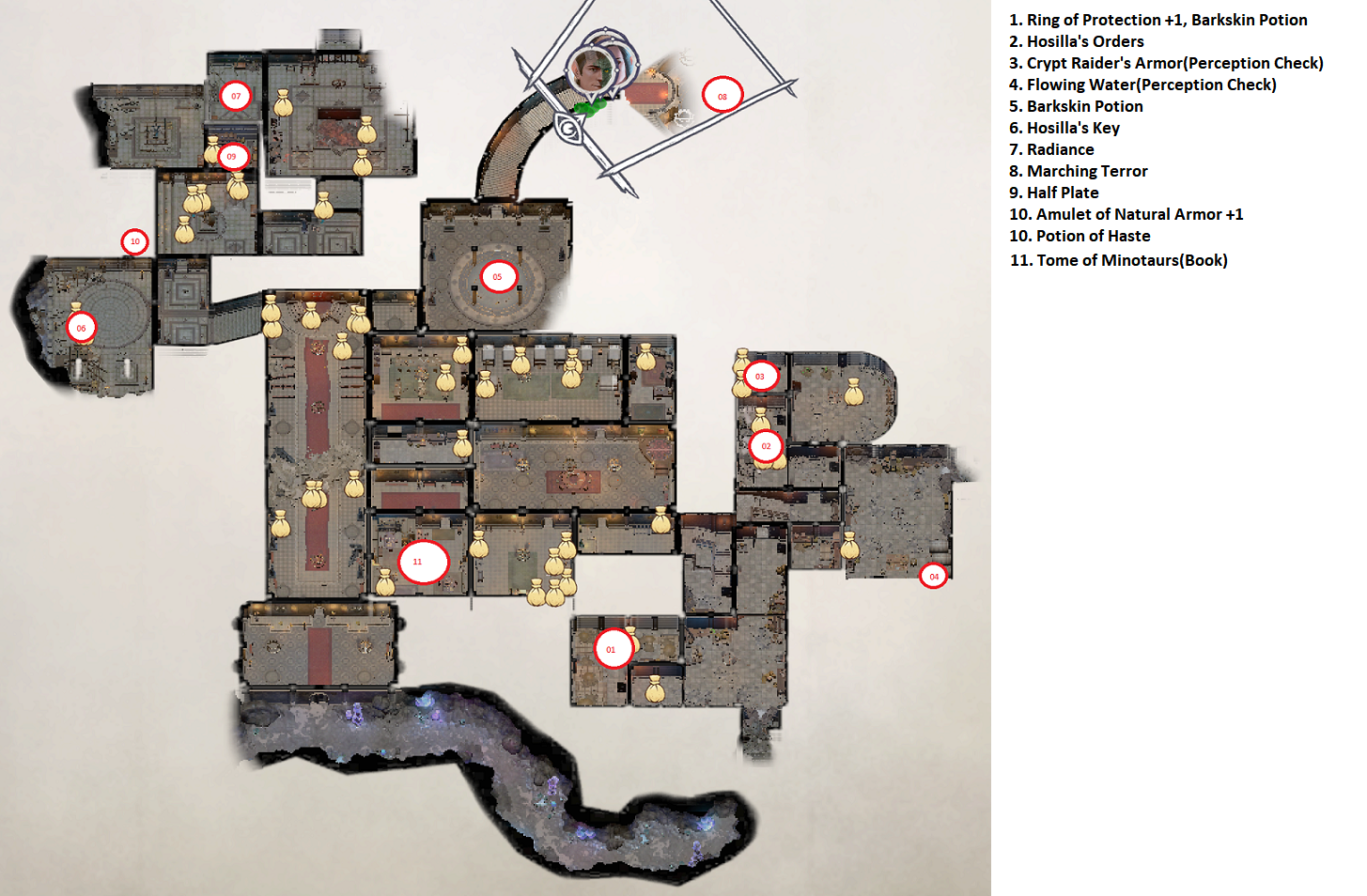 Pathfinder: Wrath of the Righteous All Items Location in Cave Map Guide - Item Locations - 673558C