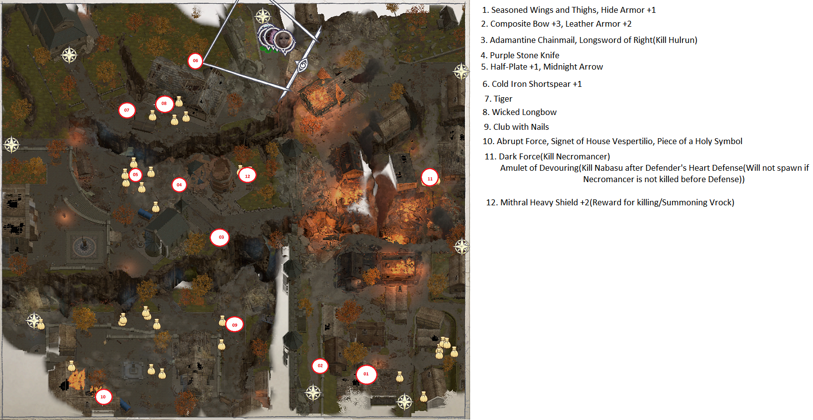 Pathfinder: Wrath of the Righteous All Items Location in Cave Map Guide - Item Locations - 80197F5