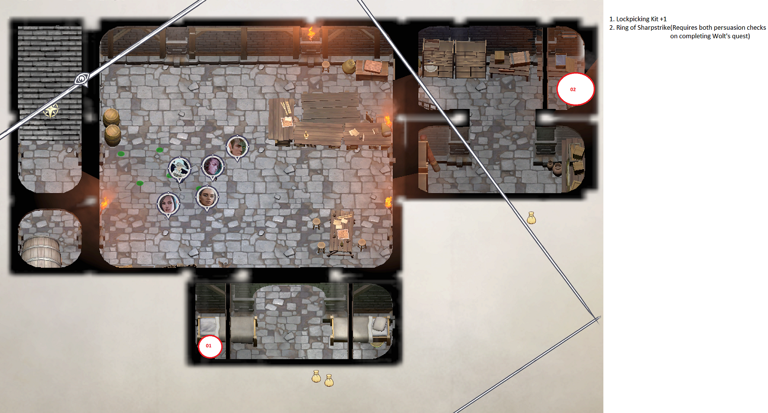 Pathfinder: Wrath of the Righteous All Items Location in Cave Map Guide - Item Locations - A28F101