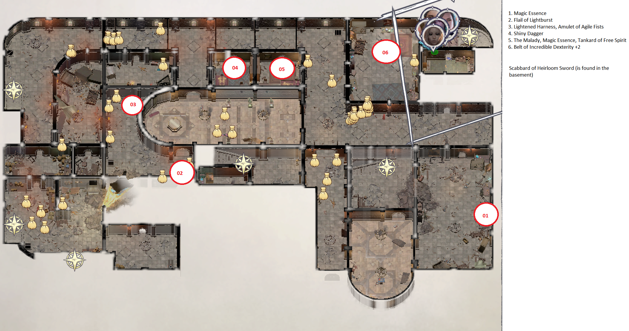 Pathfinder: Wrath of the Righteous All Items Location in Cave Map Guide - Item Locations - D583522