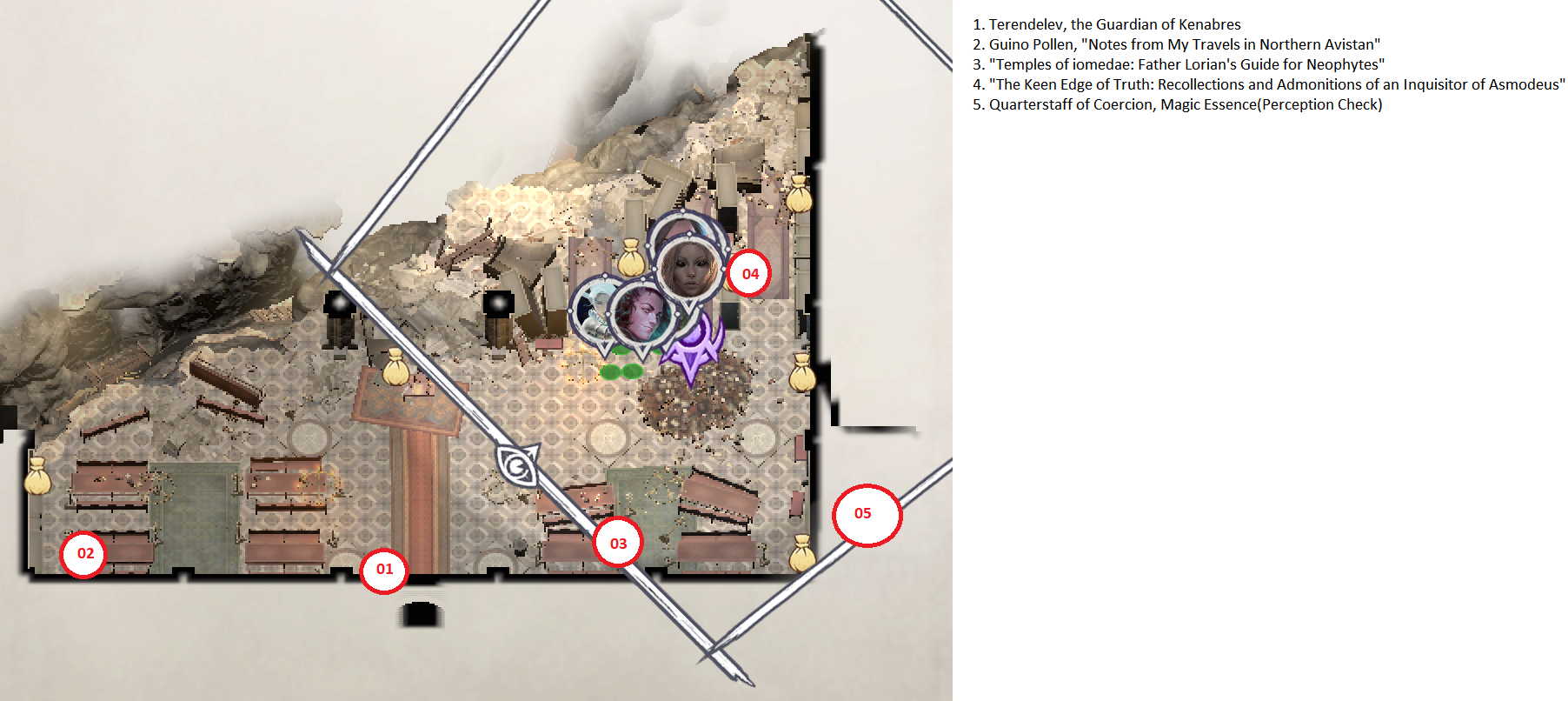 Pathfinder: Wrath of the Righteous All Items Location in Cave Map Guide - Item Locations - F95C1D7
