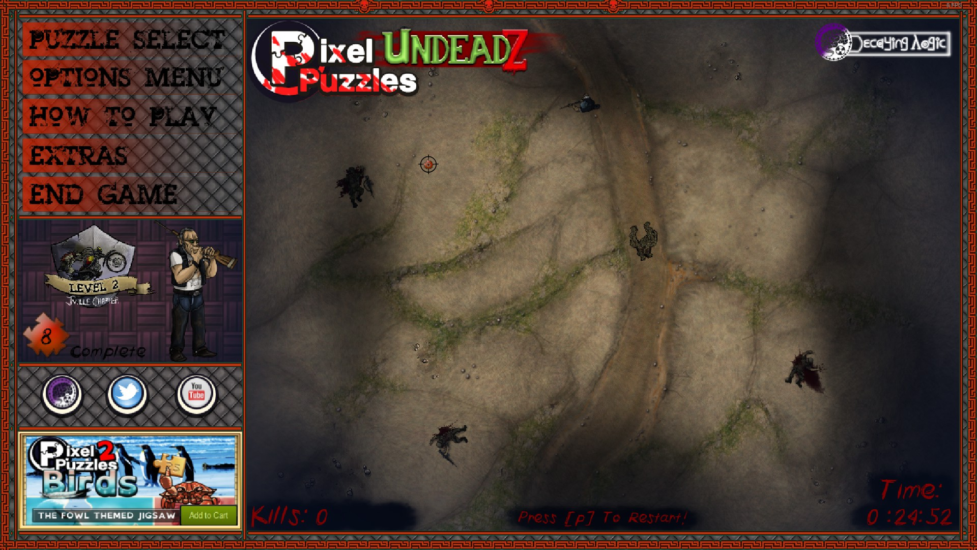 Pixel Puzzles: UndeadZ How to Unlock 60 Min Madness Achievement Gameplay Tips - Making it easy-part - 8467879