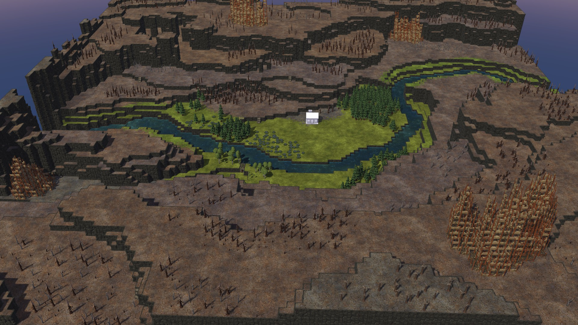 Timberborn All Maps in Game With Photo Guide - Canyon Map: - F78F6BD