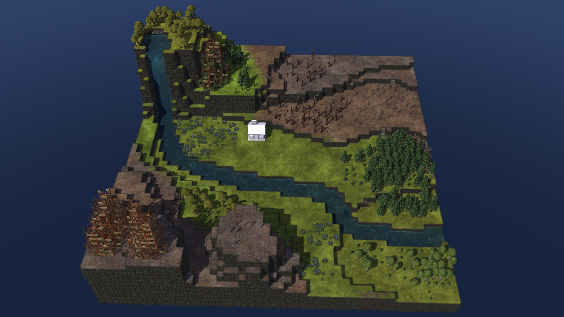 Timberborn All Maps in Game With Photo Guide - Diorama Map: - E1E0C37