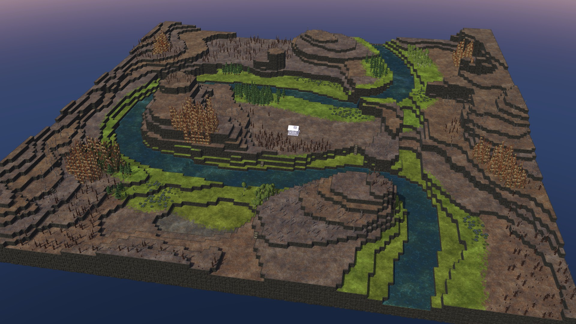 Timberborn All Maps in Game With Photo Guide - Meander Map: - AAB7DE0