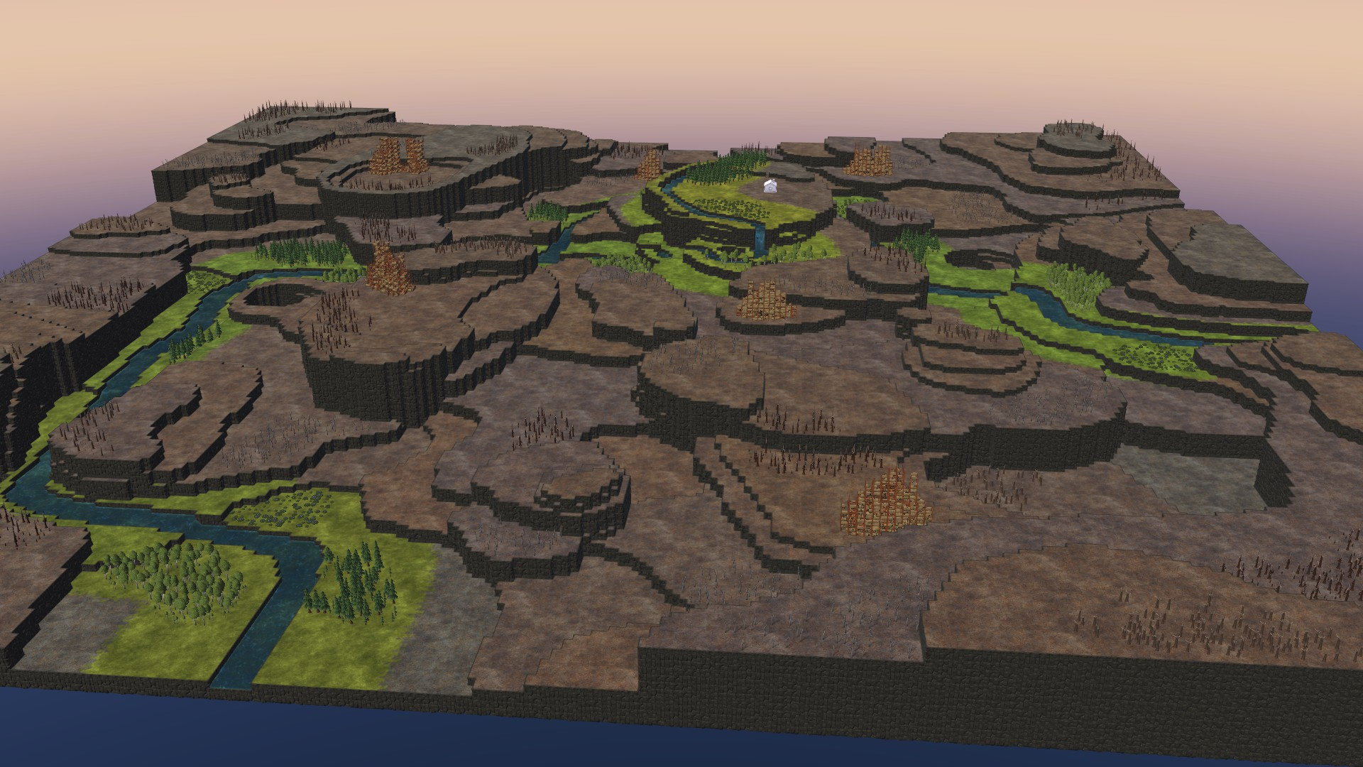 Timberborn All Maps in Game With Photo Guide - Terraces Map: - 4832BE1