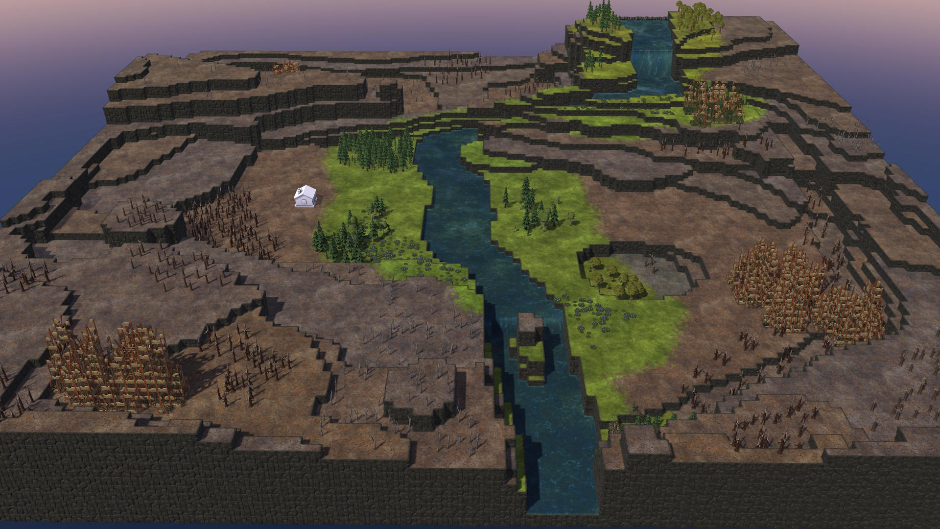 Timberborn All Maps in Game With Photo Guide - Waterfalls Map: - 253447B