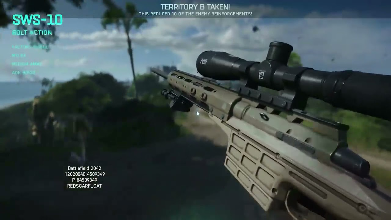Battlefield™ 2042 Open Beta All Weapons & Stats in Game - SWS-10 - 09B5395