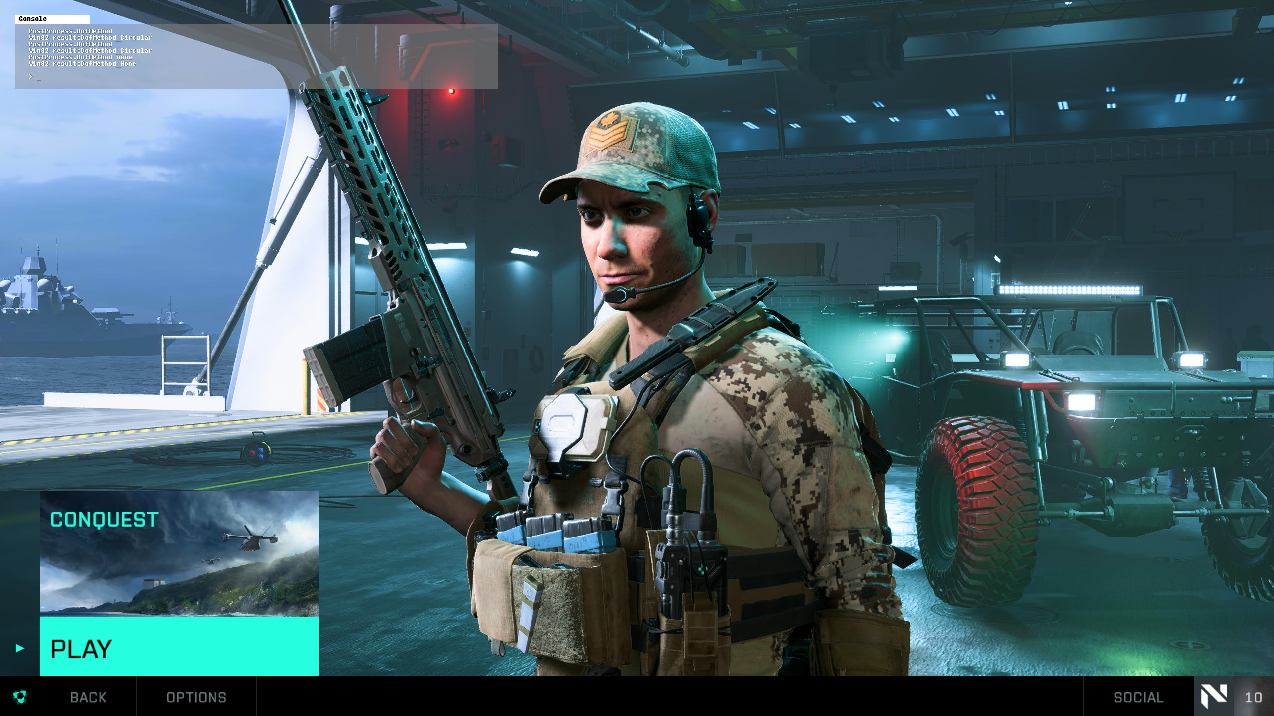 Battlefield™ 2042 Open Beta Best FPS Settings for Better Performance - In-game console - 3429A9D