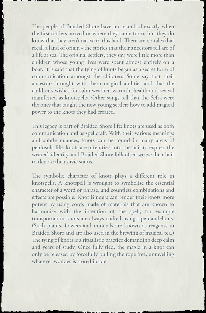 Book of Travels Story Guide + Walkthrough - Overview - Skills: Knotspells, Teas, Abilities, Passives - 8EF33C3