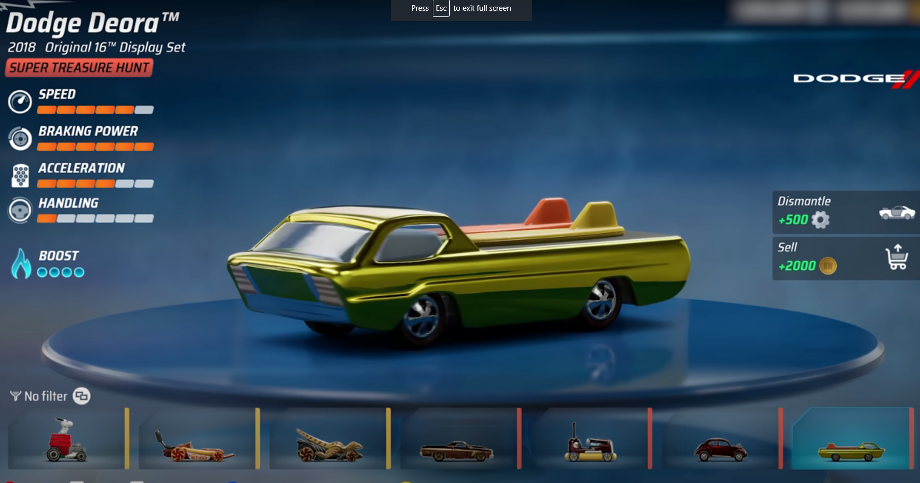 HOT WHEELS UNLEASHED™ How to Unlock Dodge Deora Tips - Unlocking and Obtaining Deora - 66B6B08