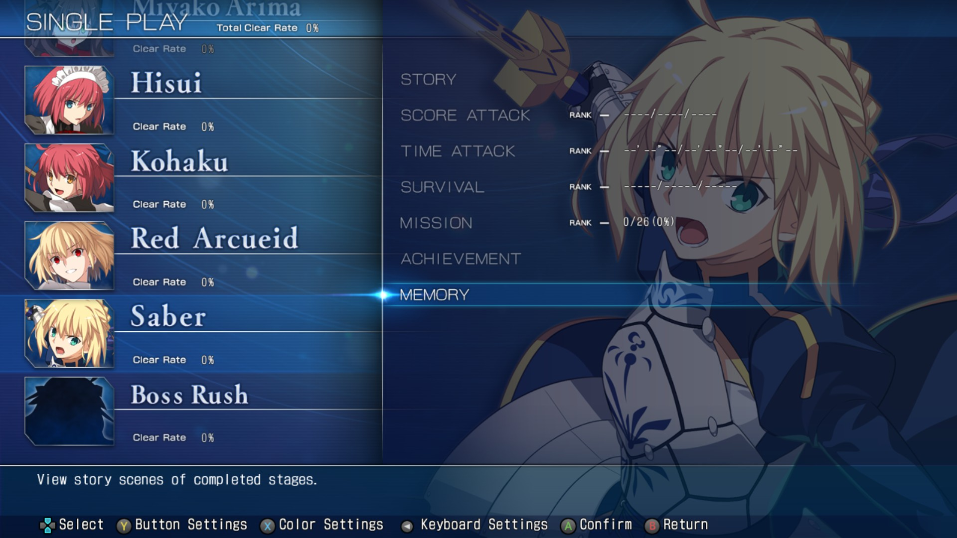 MELTY BLOOD: TYPE LUMINA WIP - All Achievements Guide & Walkthrough - Single Play Mode - BD92882