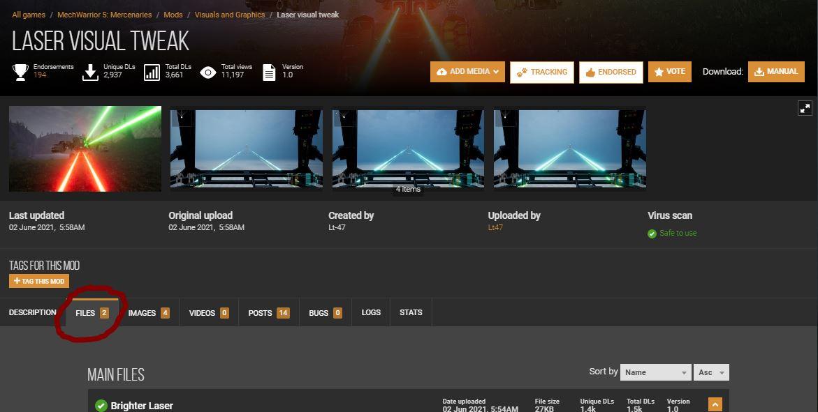 MechWarrior 5: Mercenaries List of Mods in Game + Links Download - Example: Installing from NexusMods - 87208B4