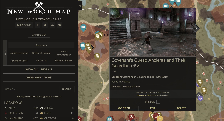 New World New World Interactive Map - Maps - 25A4D72