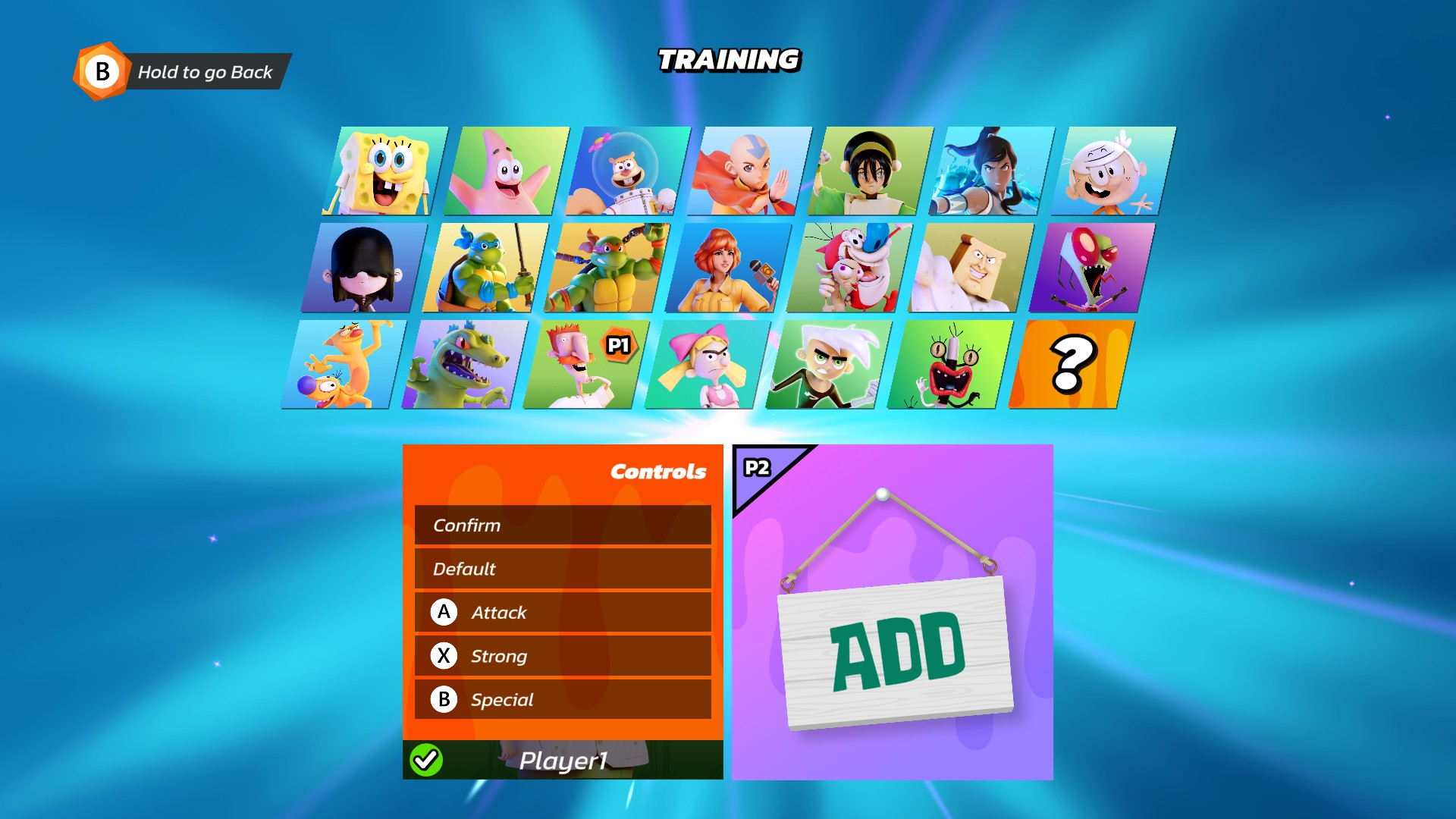 Nickelodeon All-Star Brawl Controller Configuration Guide - In-Game Button Layout - 1C3C210
