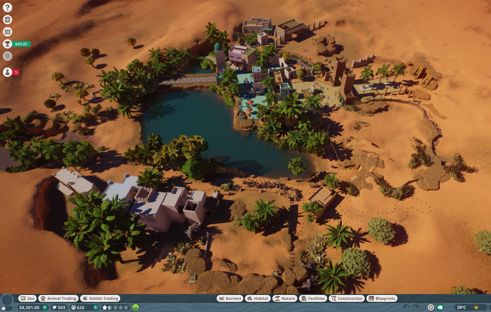 Planet Zoo How to Get All Statue rewards in Time Scenarios - Once in a Blue Dune (El Darar Bazarr) - 3CE6C37